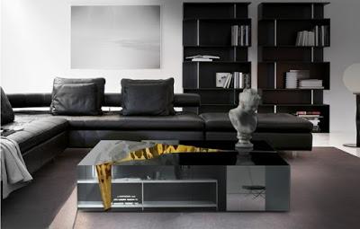 siyah mobilyalar i̇çin dekorasyon önerileri2